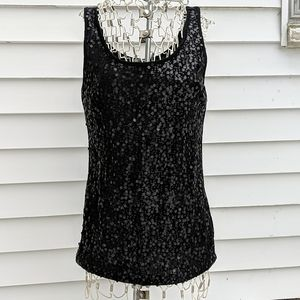 Old Navy black sequined tank top